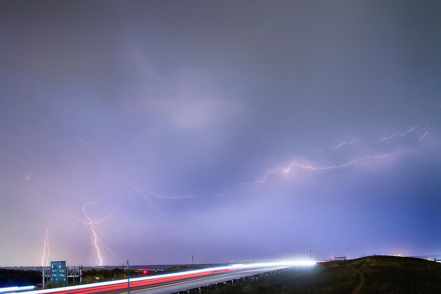 Lightning Photograph - 47 Street Lightning Storm Light Trails View by James BO  Insogna