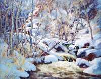 Snow Painting - Snowscape by Ed  Slack