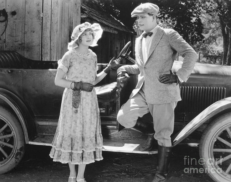 Couple Photograph - Silent Film Still: Couples by Granger