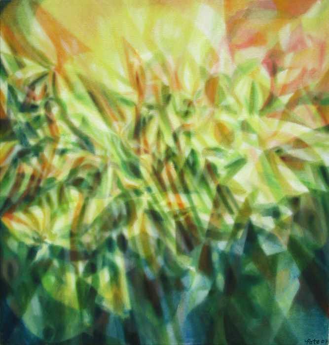 Flowerfractal Painting by Dan Pate