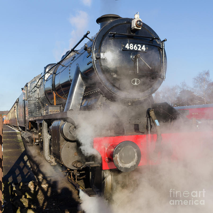 Stanier Photograph - 48624 Steam Locomotive by Steev Stamford
