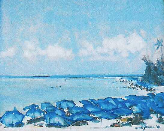 Fresno Painting - Blue Bonnets by Howard Stroman