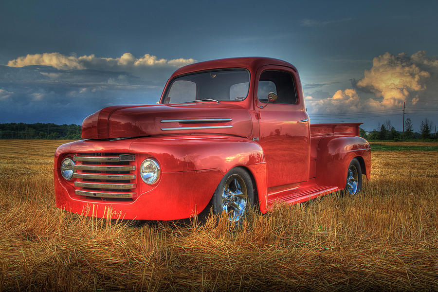 49 Vintage Ford Pickup Truck Photograph by Scott Bert
