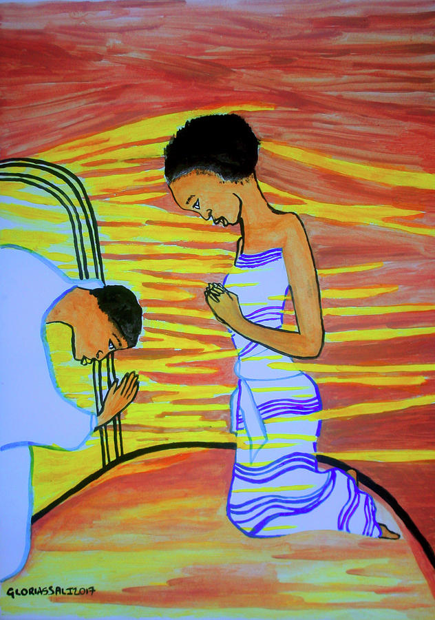 Jesus Painting - The Annunciation by Gloria Ssali