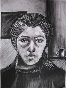 My Faces Drawing by Laleh Khoshnavaz
