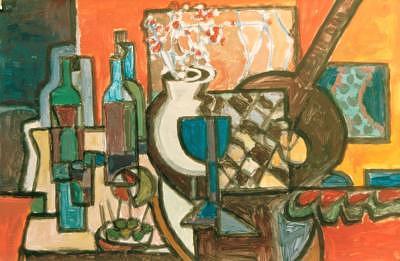 Jar Painting - 4bodeguitar by Juan Luis Quintana