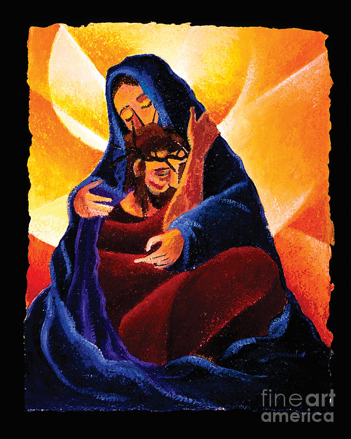 4th Station, Jesus Meets His Mother - MMFOS by Br Mickey McGrath OSFS