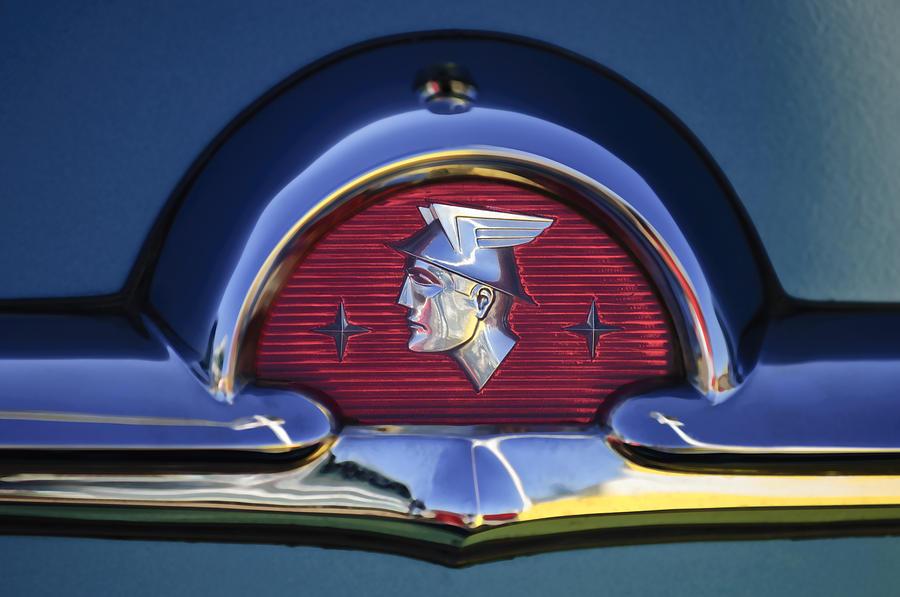 1953 Mercury Monterey Emblem Photograph By Jill Reger