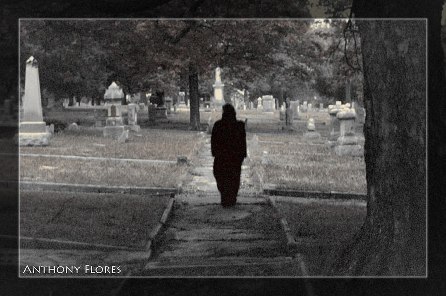 Cemetery Photograph - Untitled by Anthony Flores