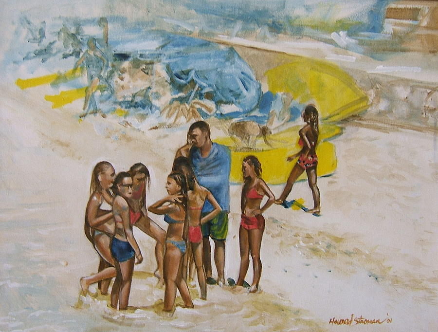 On The Beach Painting - Untitled 5 by Howard Stroman