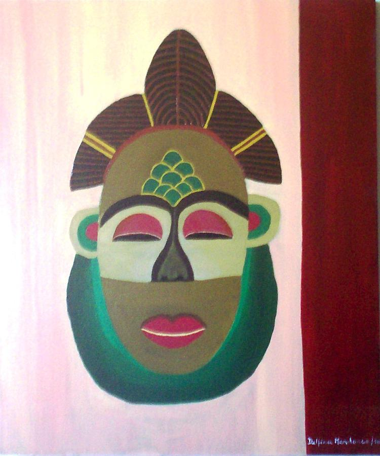 Mask Painting - African Mask by Delfina Mendonca