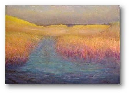 Marshes Painting - 5 Am Marsh by Brian Higgins