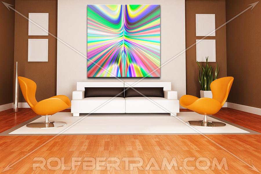 ultra Modern Digital Art - An Example Of Modern Art By Rolf Bertram In An Interior Design Setting by Rolf Bertram