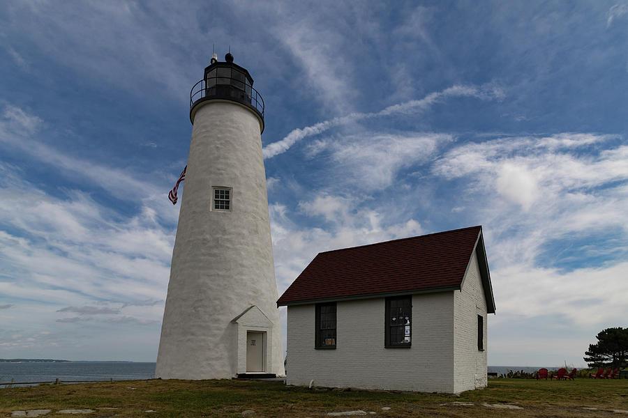 Salem Ma Photograph - Bakers Island Lighthouse Salem by Jeff Folger