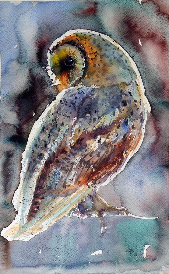 barn owl painting by kovacs anna brigitta