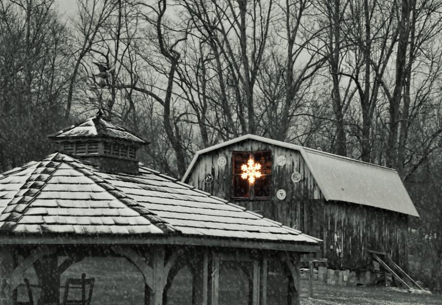 Christmas Photograph - Barn Star by JAMART Photography