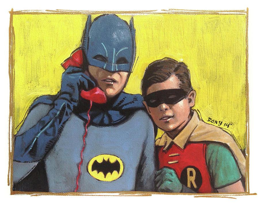 Superheroes Painting - Batman by Art Popop