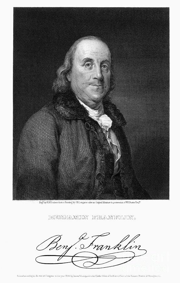 18th Century Photograph - Benjamin Franklin by Granger
