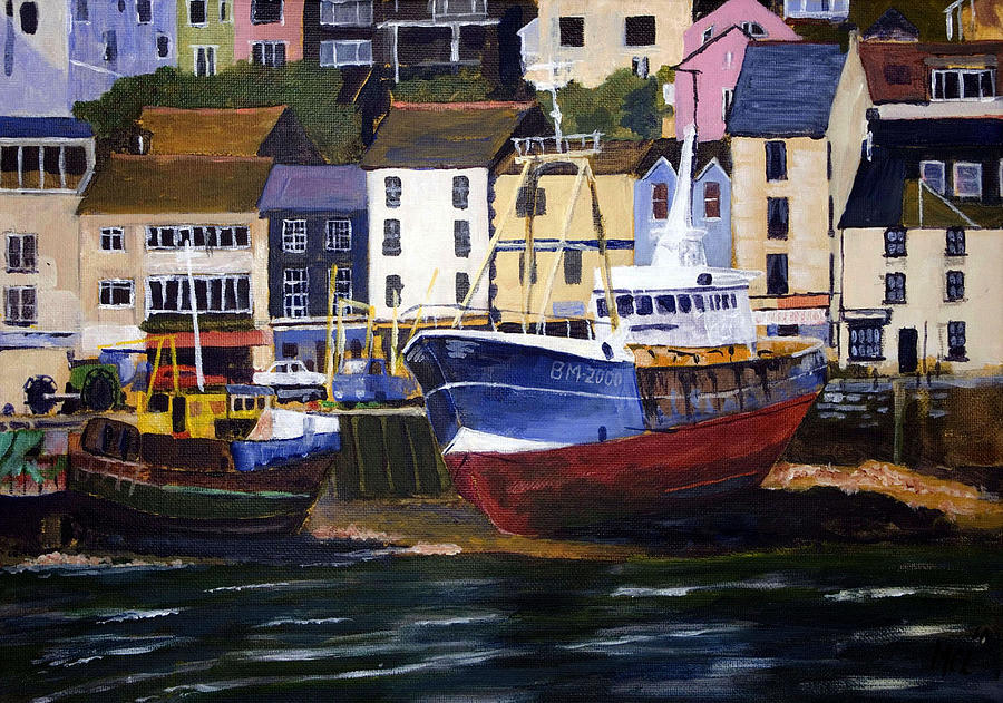 Attraction Mixed Media - Brixham Harbour by Mike Lester