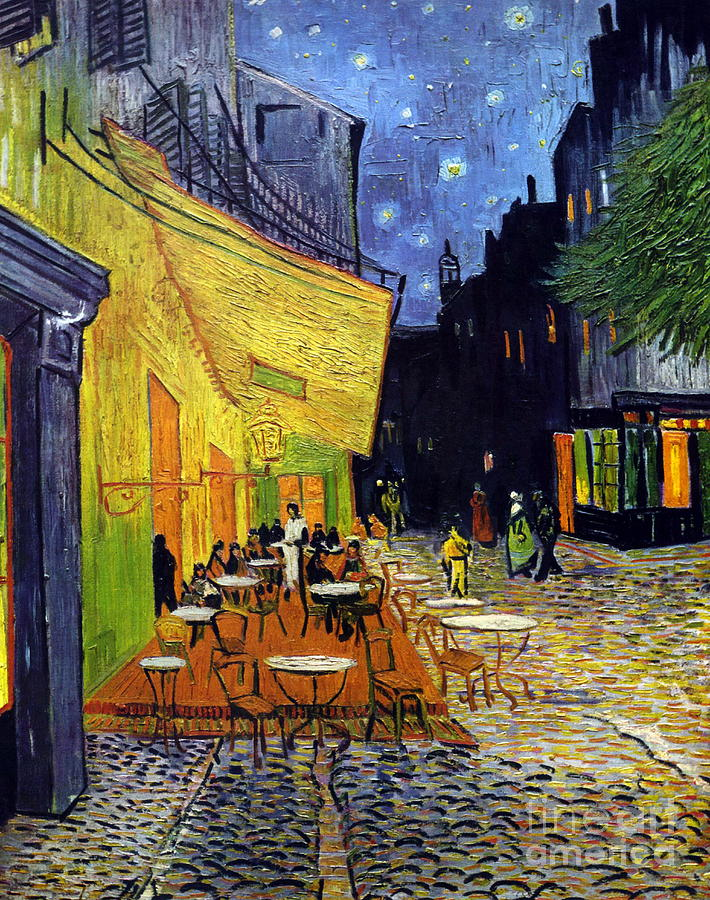 Van Gogh Painting - Cafe Terrace At Night by Starry Night