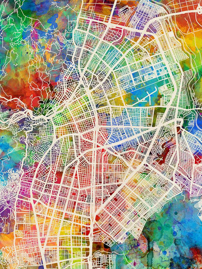Cali Colombia City Map by Michael Tompsett on port of spain map, curitiba map, ljubljana map, the midwest map, punta del este map, antalya map, caracas map, la paz map, mar del plata map, cordoba argentina map, cordillera occidental map, venezia map, belo horizonte map, oslo map, cochabamba map, bratislava map, izmir map, hcmc map, recife map, zagreb map,