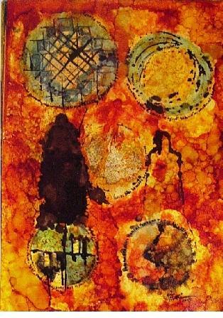 Spiritual Painting - 5 Centers by Mounir Lakkis