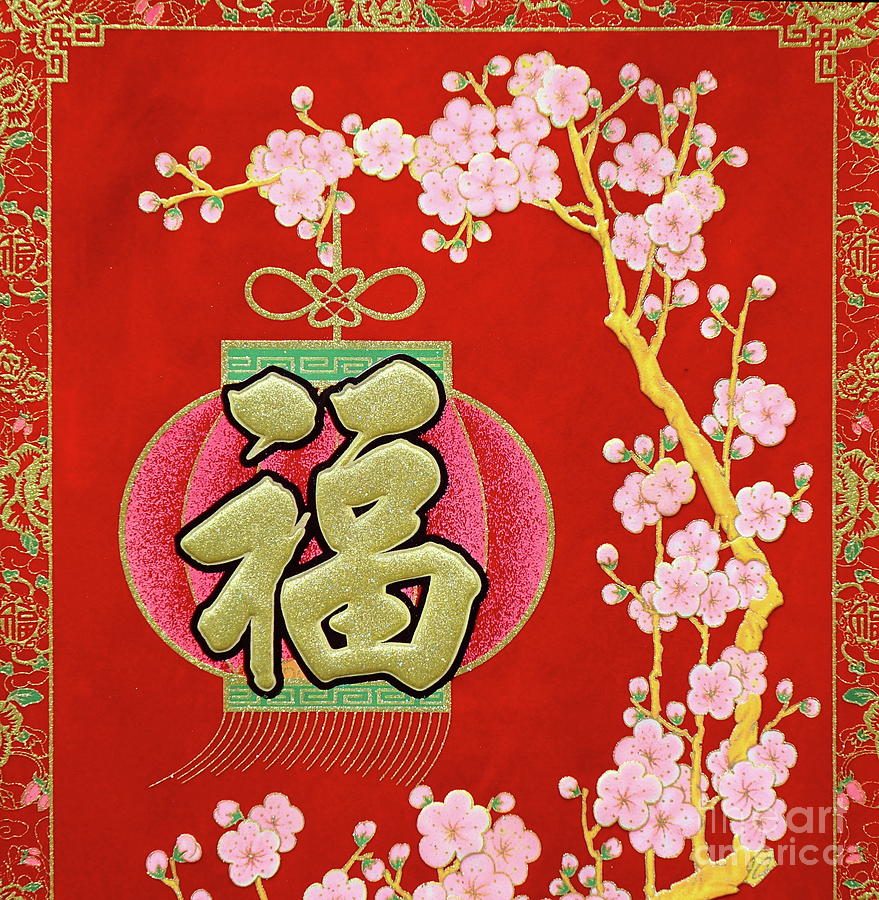 Chinese New Year Decorations And Lucky Symbols Photograph ...
