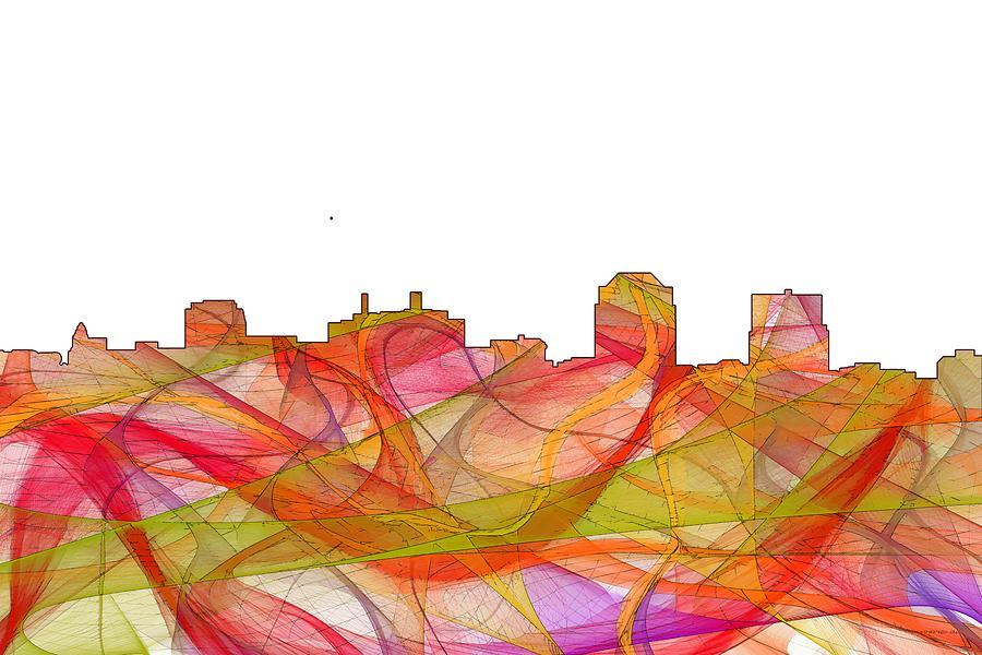 Landscape Digital Art - Colorado Springs Colorado Skyline by Marlene Watson