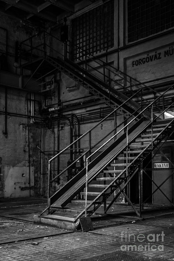 Dark Industrial Interior Of A Building Photograph By Anna Vaczi