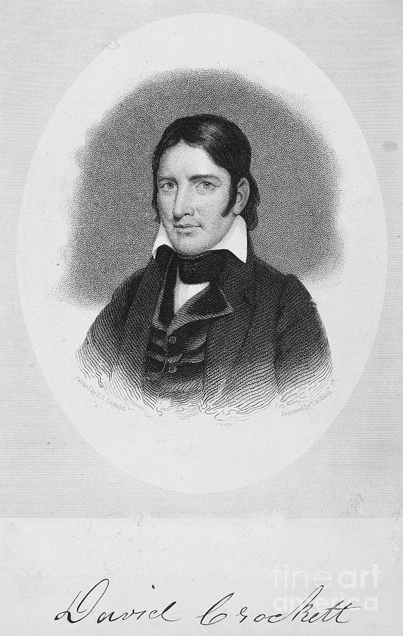19th Century Photograph - Davy Crockett (1786-1836) by Granger