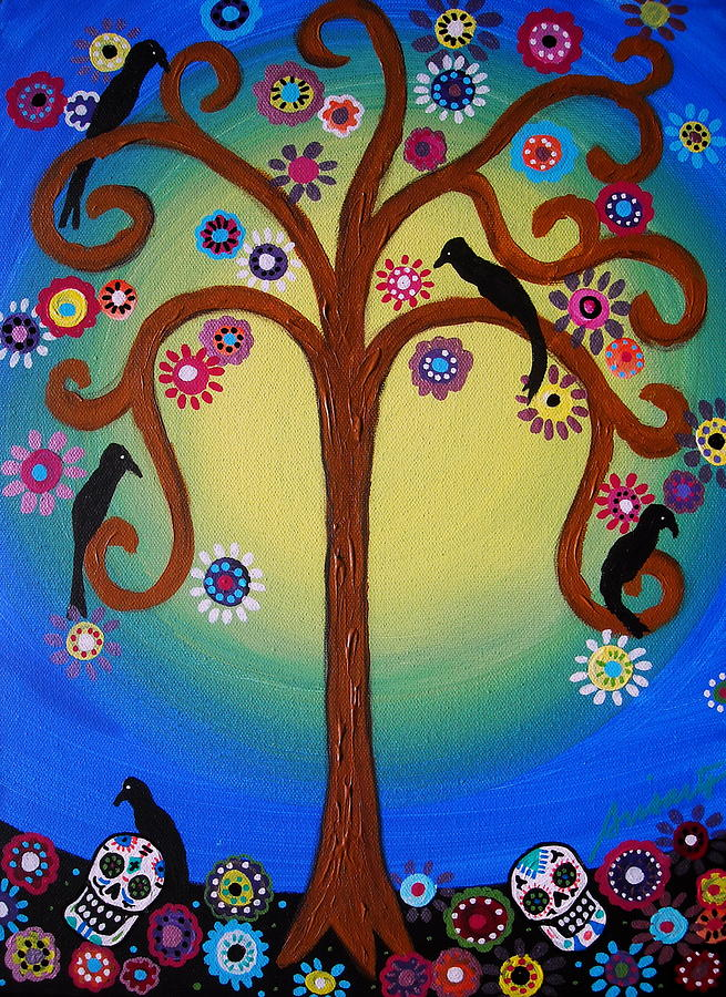 Dia De Los Muertos Painting by Pristine Cartera Turkus