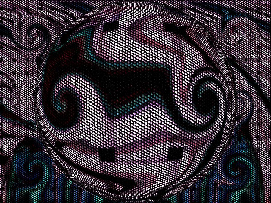 Digital Abstract Mosaic Digital Art