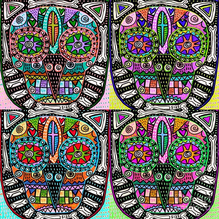 Dod Art 123 Mixed Media by Sandra Silberzweig