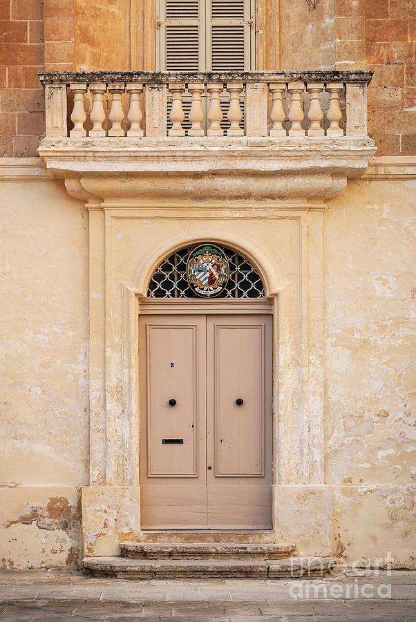 Door Architecture Detail In Mdina Old Town Of Rabat Malta Photograph