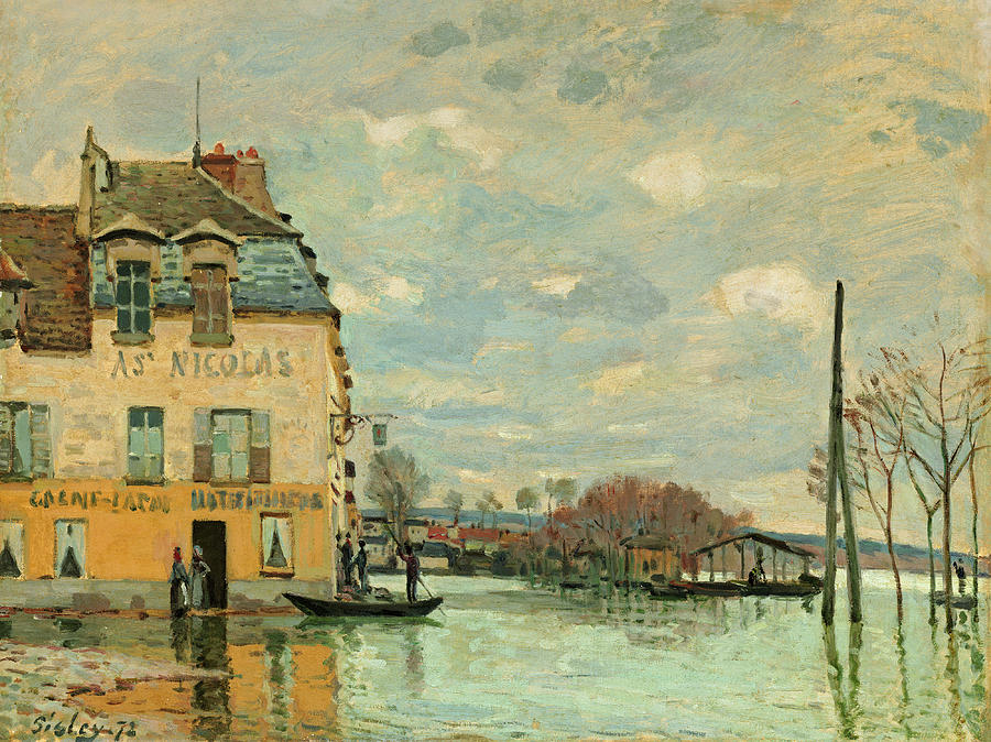 Alfred Sisley Painting - Flood At Port-marly by Alfred Sisley