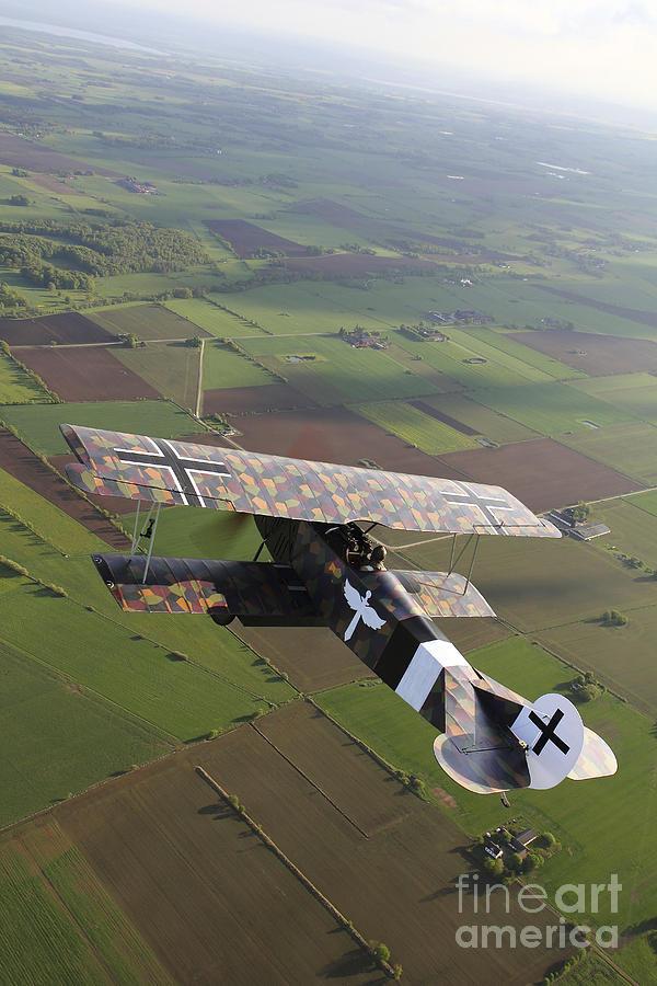 Transportation Photograph - Fokker D.vii World War I Replica by Daniel Karlsson