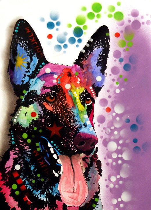 German Shepherd Painting by Dean Russo