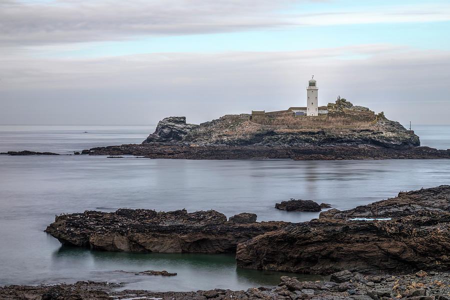 Godrevy Lighthouse Photograph - Godrevy Lighthouse - England by Joana Kruse