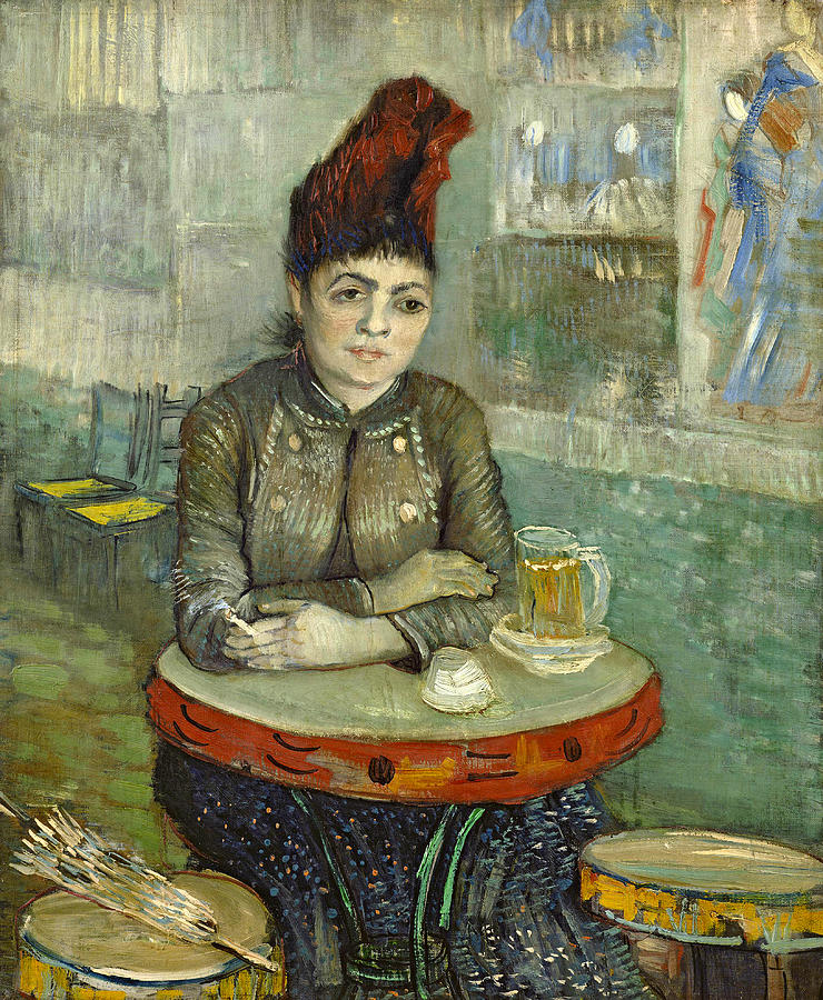 Van Gogh Painting - In The Cafe Agostina Segatori In Le Tambourin by Vincent van Gogh