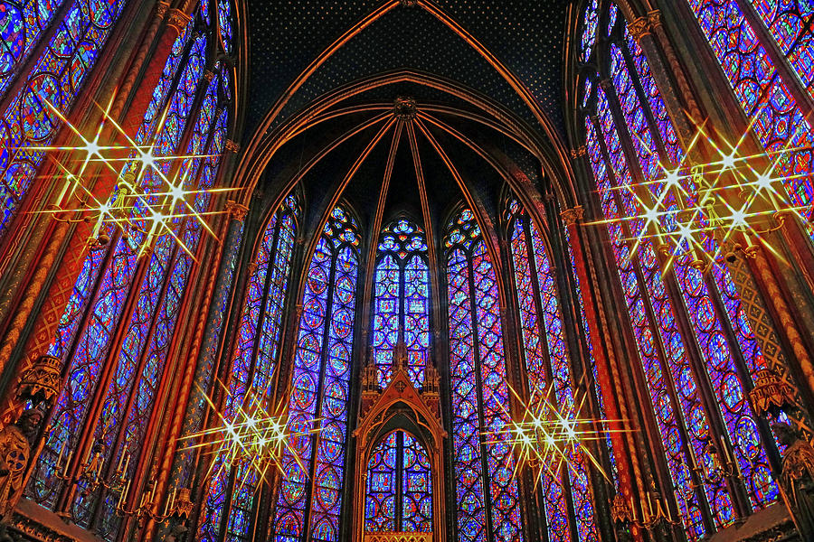 Interior Beauty Of Sainte Chapelle In Paris France Photograph By