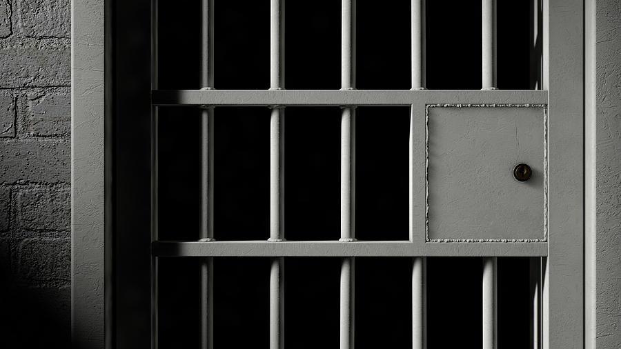 jail cell door and welded iron bars digital art by allan swart