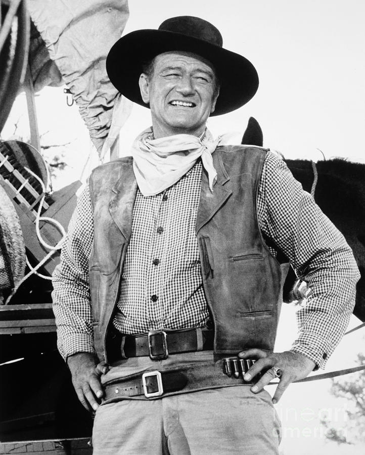 1961 Photograph - John Wayne (1907-1979) by Granger