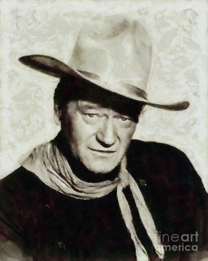 John Wayne Hollywood Actor Painting
