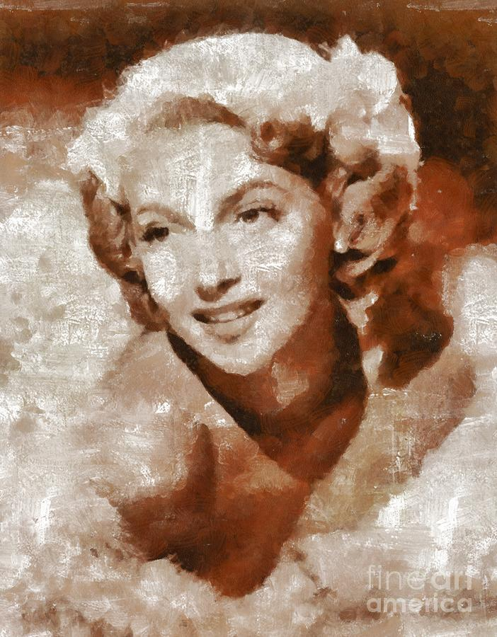 Hollywood Painting - Lana Turner Vintage Hollywood Actress by Mary Bassett