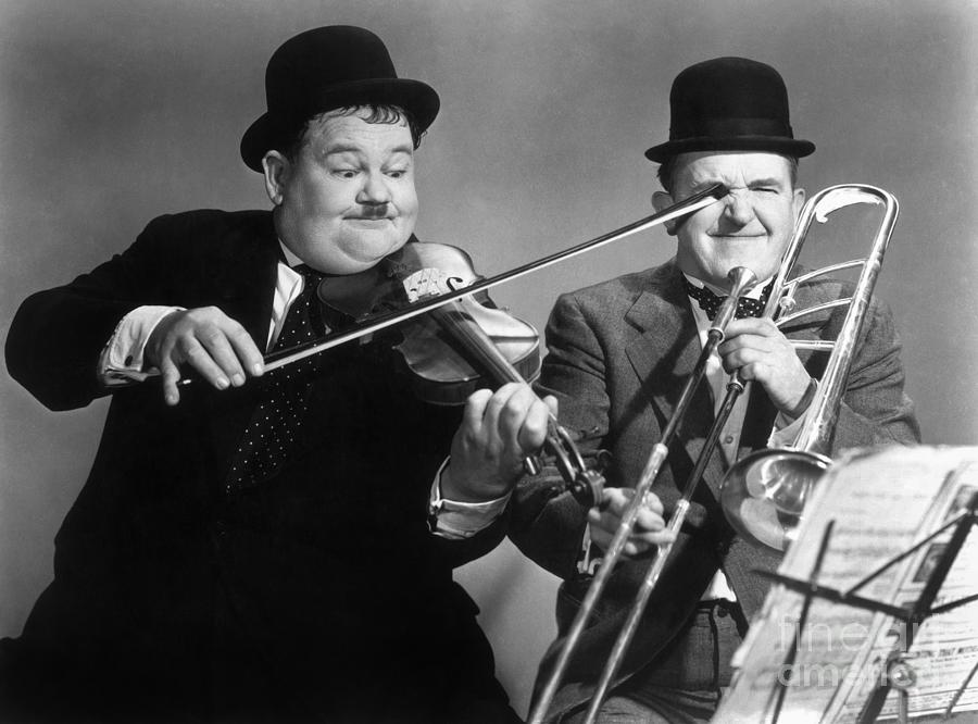 Laurel And Hardy Photograph by Granger – Laurel and Hardy Birthday Cards