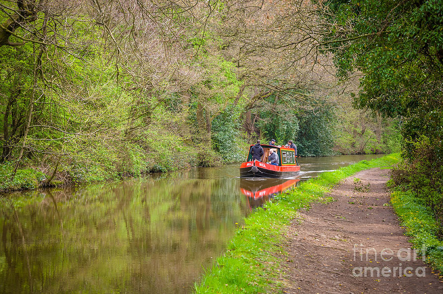 Leeds And Liverpool Canal In Low Bradley Photograph