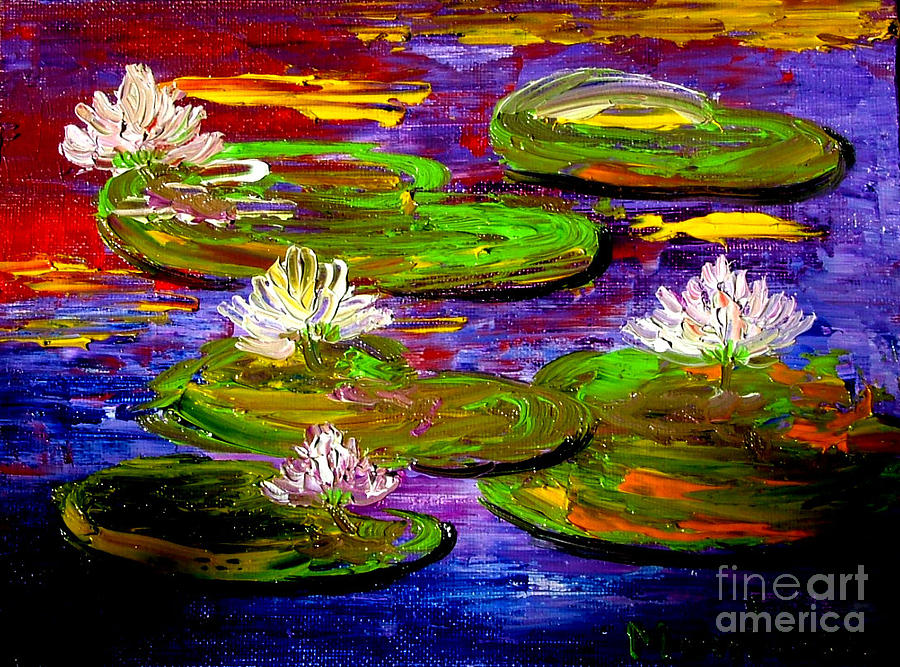 Lily Painting - Lily Pond by Inna Montano