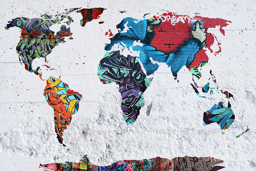 Map Of The World Painting - Map Of The World by Mark Ashkenazi