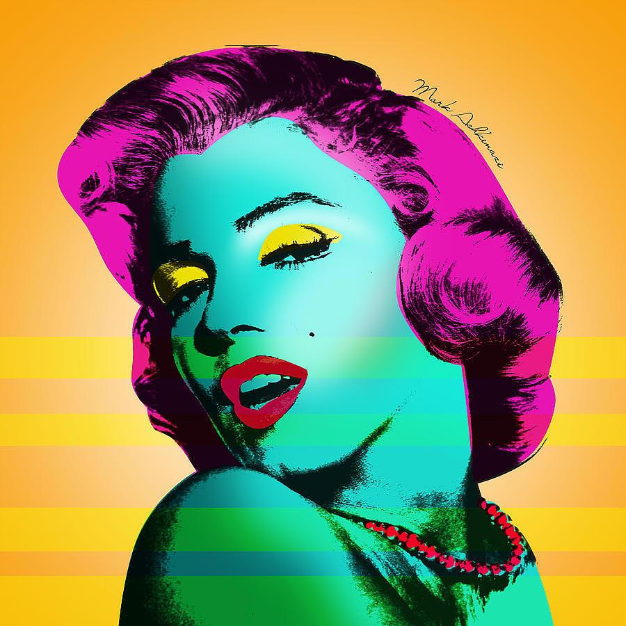 Famous Women Painting - Marilyn Monroe by Mark Ashkenazi