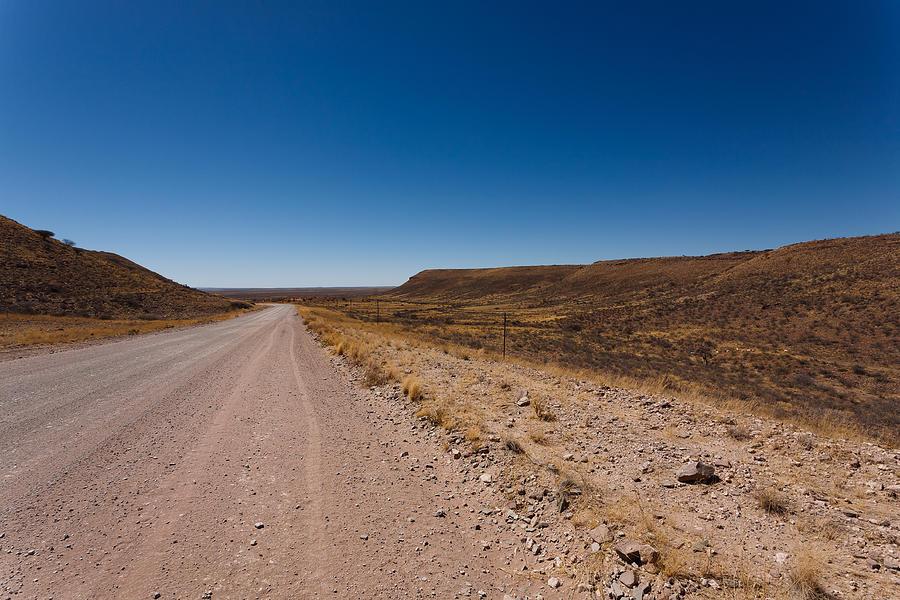 Kalahari Photograph - Namibia Road by Davide Guidolin